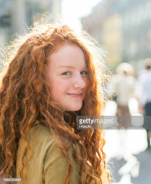 teenage girl on a happy day - danish culture stock pictures, royalty-free photos & images
