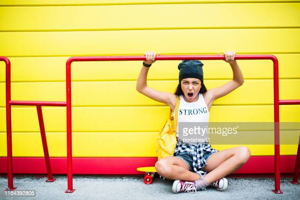 teenage girl - furious stock photos and pictures