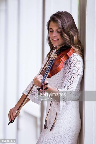 Teenage girl Playing a violin