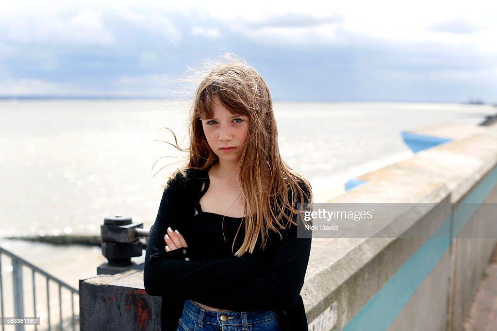 Teenage girl portrait : Stock Photo