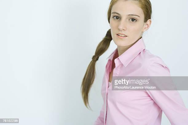 'Teenage girl, portrait'