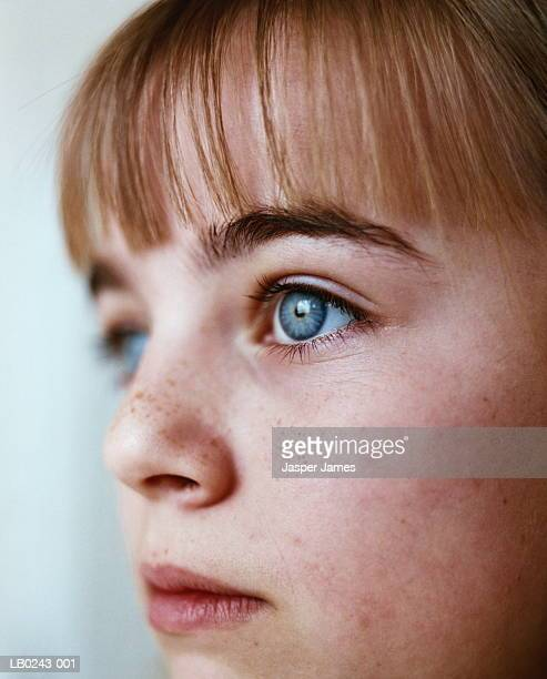 teenage girl (12-14), profile, close-up - wisdom stock pictures, royalty-free photos & images