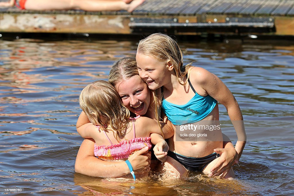 Girls Taking A Bath Together