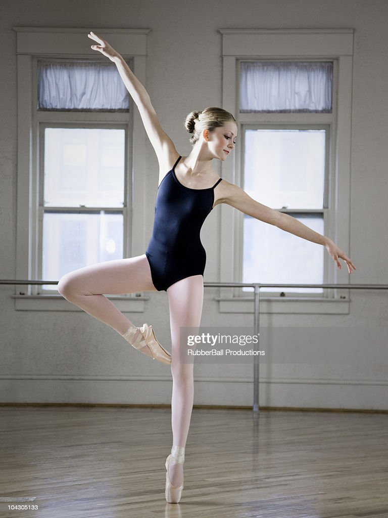 Teenage girl doing ballet