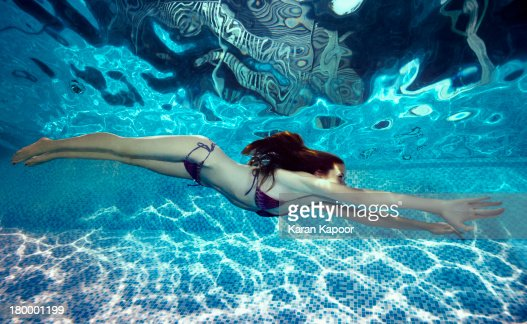 Teenage Girl Underwater High-Res Stock Photo - Getty Images-2132