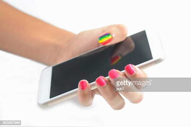 Teenage girl using a mobile phone