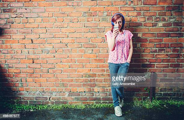 Teenage girl using a smart phone