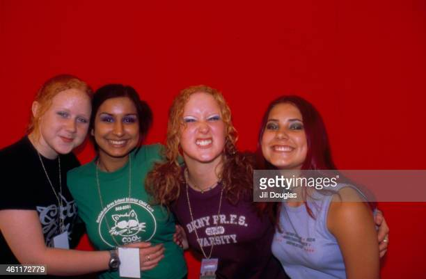 Teenage girlband 21st Century Girls in a posed portrait 1999
