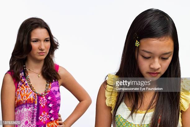 Teenage girls arguing