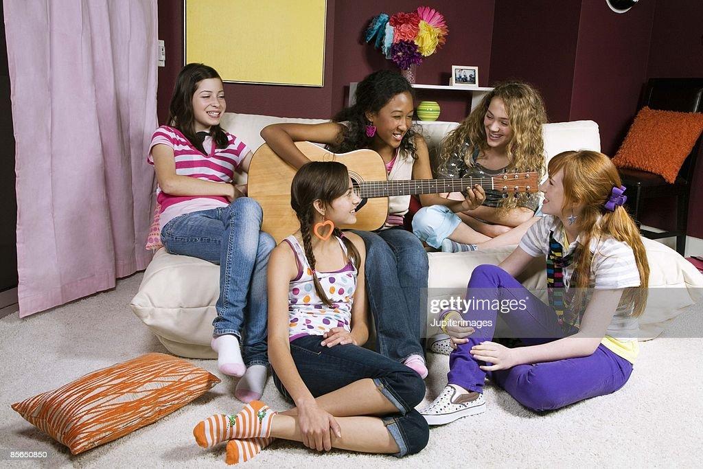 Hannah cum teen girls naughty sleep over fun teenie girls hot