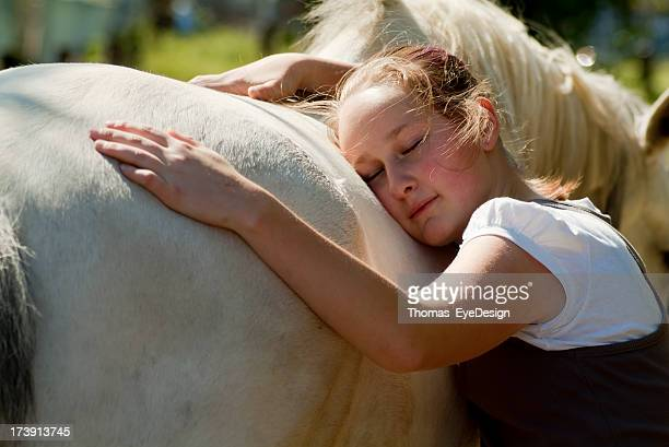 Teenage girls at  the Horse Stable