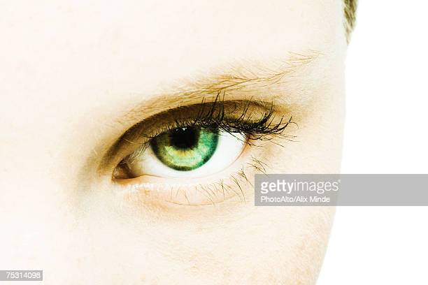Teenage girl's eye, extreme close-up