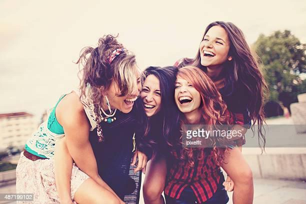 Teenage girls fun