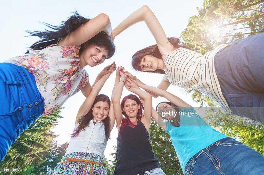 Teenage Girls Fun Together : Stock Photo