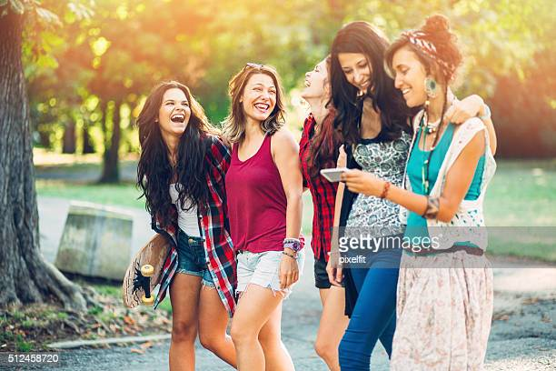 Teenage girls gathering