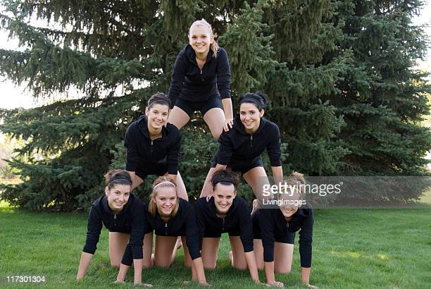 teenage girls - black cheerleaders stock photos and pictures