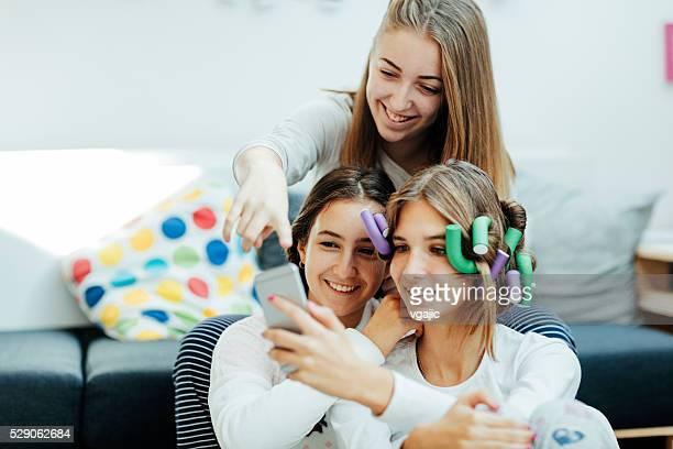 Teenage Girls Sleepover Beauty Treatment