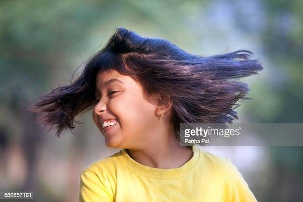 A teenage Indian Girl in merry mood