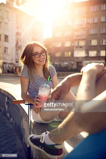 teenage life - women whipping men stock photos and pictures
