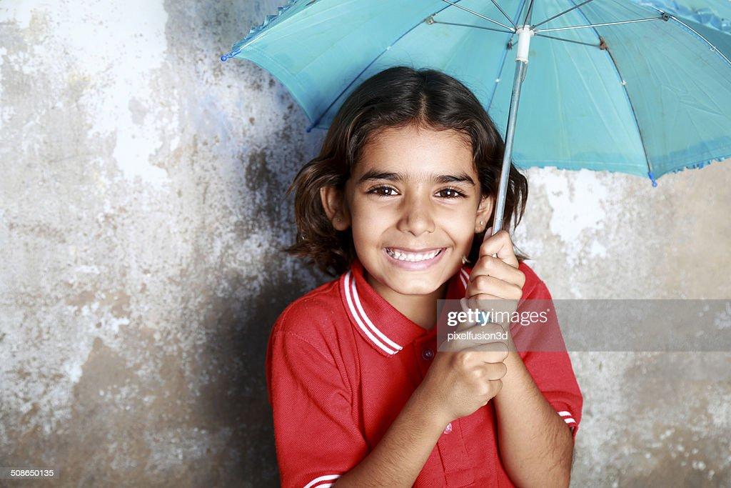Teenage Little Girl Portrait : Stock Photo