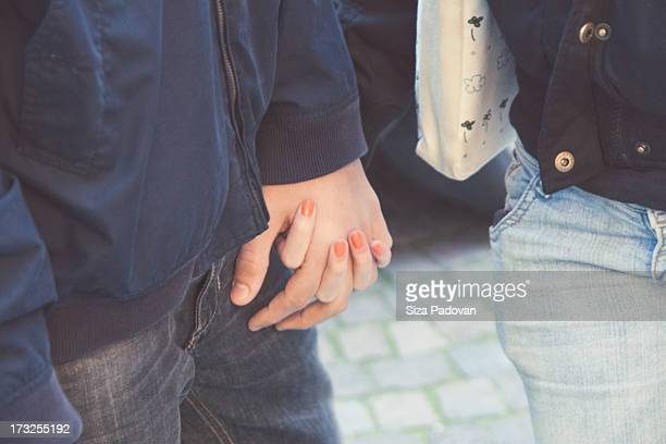 teenage love - teenage couple stock photos and pictures