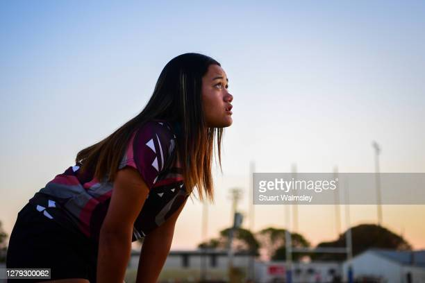 teenage maori girl at sporting contest - spectator stock pictures, royalty-free photos & images