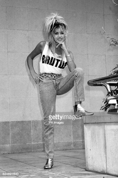 Teenage model Mandy Smith who spoke of her relationship with Bill Wyman which began when she was 13 Mandy is modelling denims for Brutus when the...