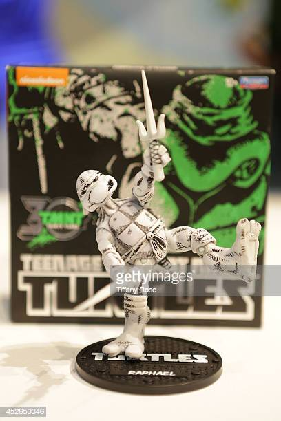 Teenage Mutant Ninja Turtle action figure at the Nickelodeon booth at 2014 San Diego ComicCon International Day 2 on July 24 2014 in San Diego...