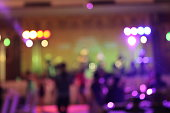 teenage party with people blurred background