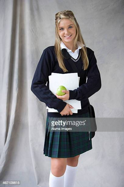 Teenage schoolgirl