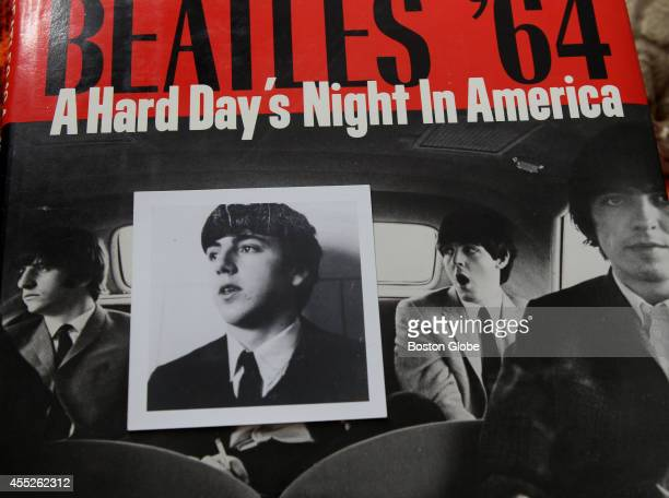 A teenage shot of Herb Van Dam on top of a Beatles photo on book jacket He looked so much like Paul McCartney in 1964 that he was mobbed by girls...