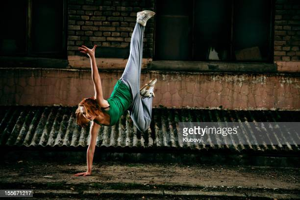 teenage street dancer - breakdancing stock photos and pictures