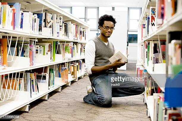 teenage students: in the library