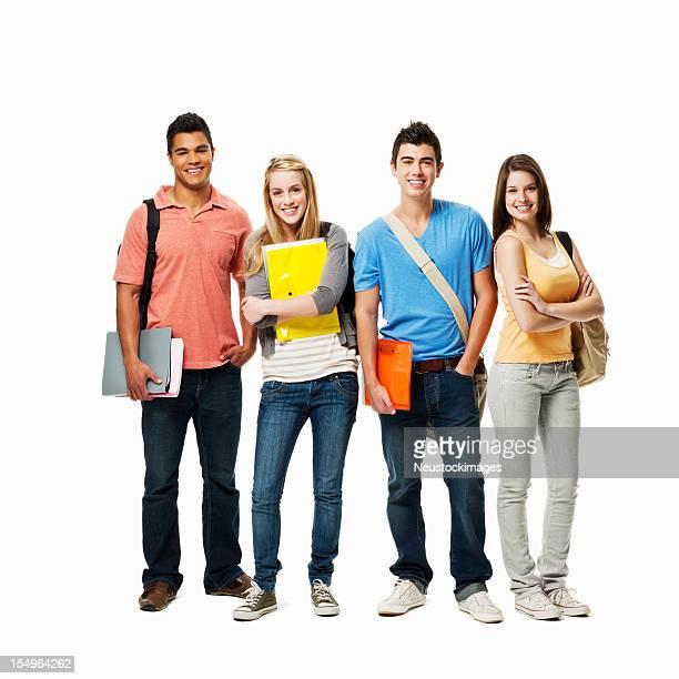 Teenage Students - Isolated