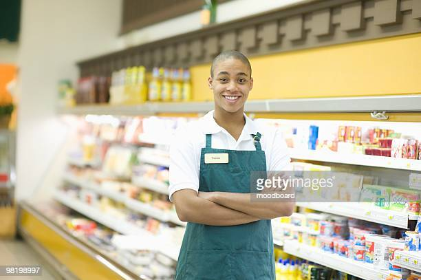 teenage supermarket employee - part time job stock pictures, royalty-free photos & images
