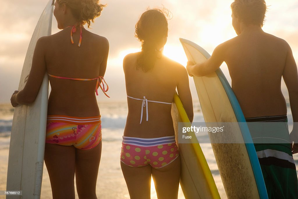 Teenage Surfers : Stock Photo