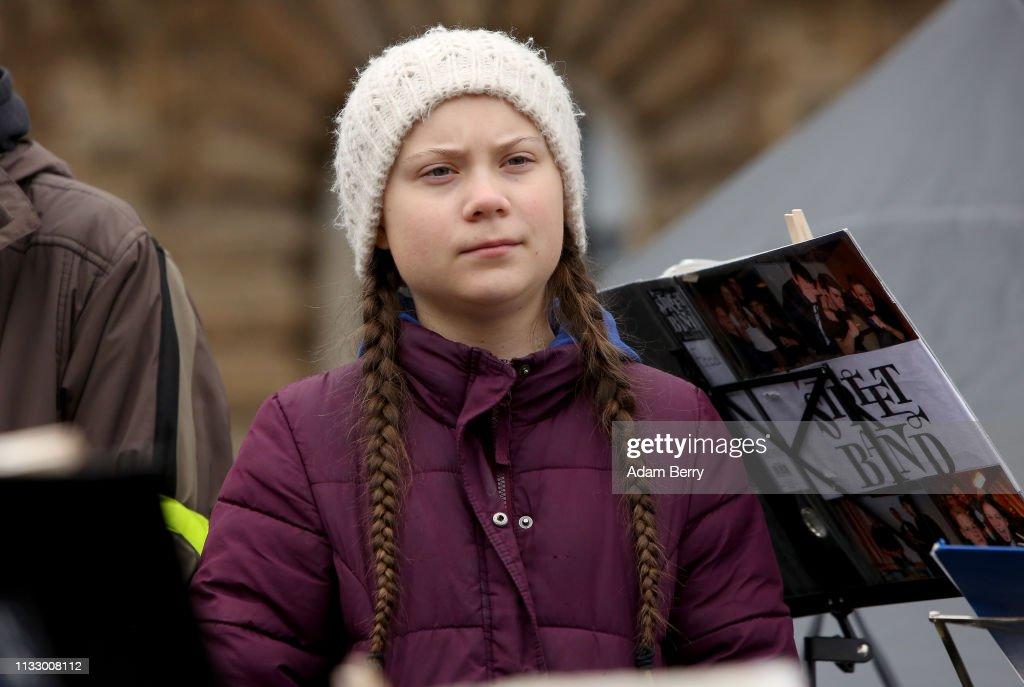 Greta Thunberg Joins Hamburg Climate Protest : News Photo