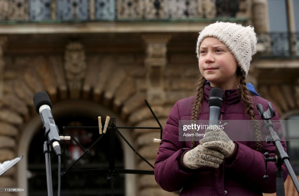 Greta Thunberg Joins Hamburg Climate Protest : News Photo