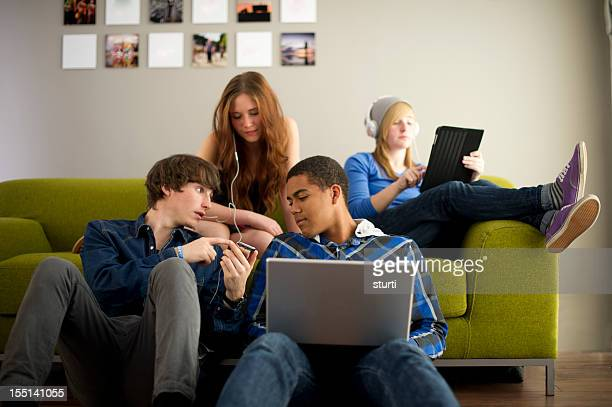 teenage techno - teenagers only stock pictures, royalty-free photos & images
