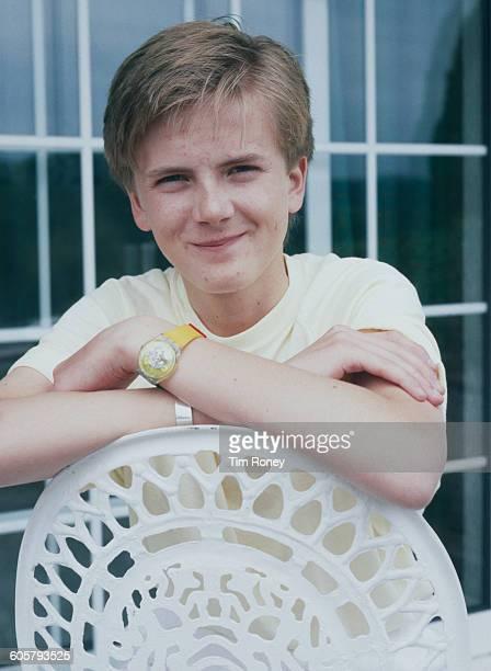 Teenaged Welsh singer Aled Jones at home circa 1986