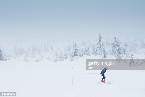 Teenager (13-15) cross country skiing, Valdres, Norway