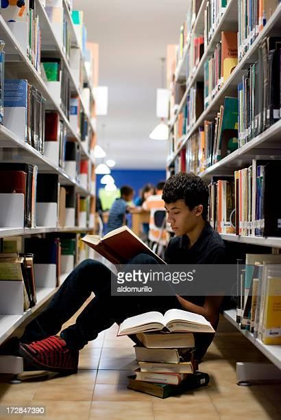 Teenager doing homework