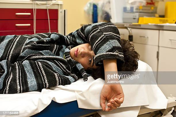 teenager in a hospital emergency room - drug abuse stock pictures, royalty-free photos & images