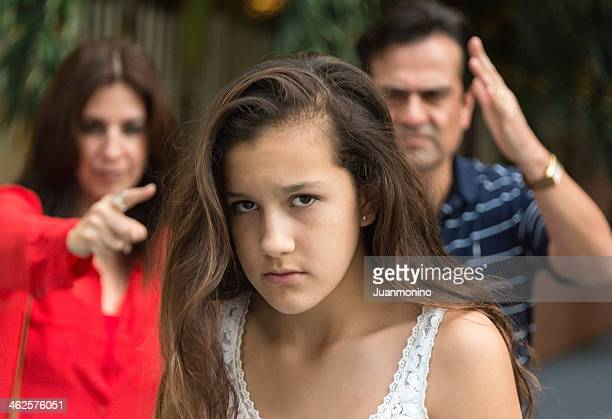 teenager in troubles - mother scolding stock pictures, royalty-free photos & images