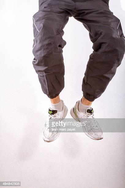 Teenager jumping