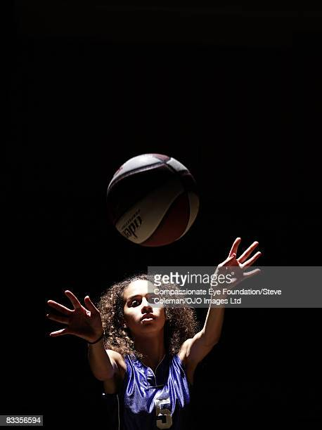 teenager passing the ball towards the camera - girls flashing camera stock pictures, royalty-free photos & images