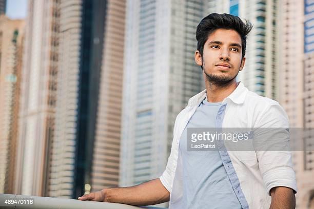 Teenager portrait in Dubai Marina