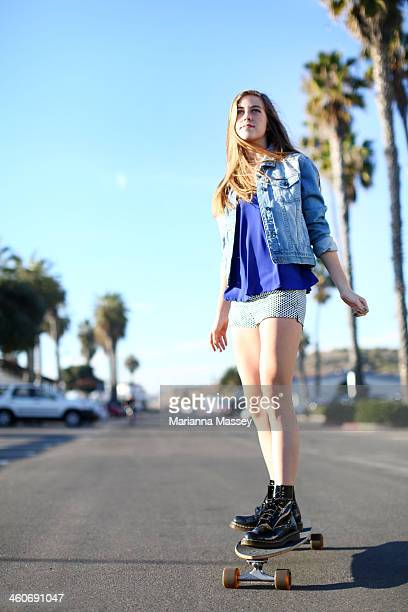 teenager skateboarding - longboard skating stock pictures, royalty-free photos & images