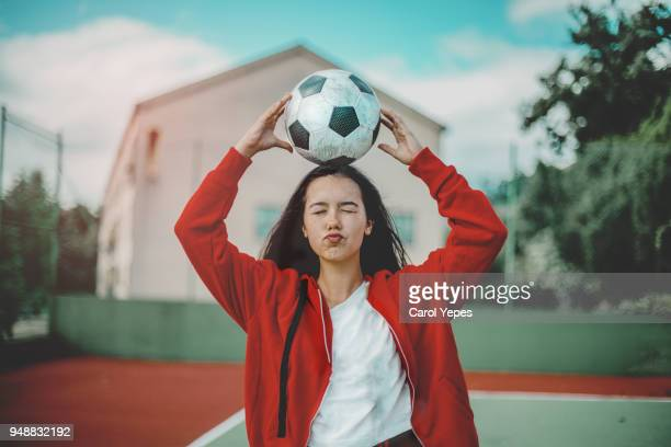 teenager soccer - female high school student stock pictures, royalty-free photos & images