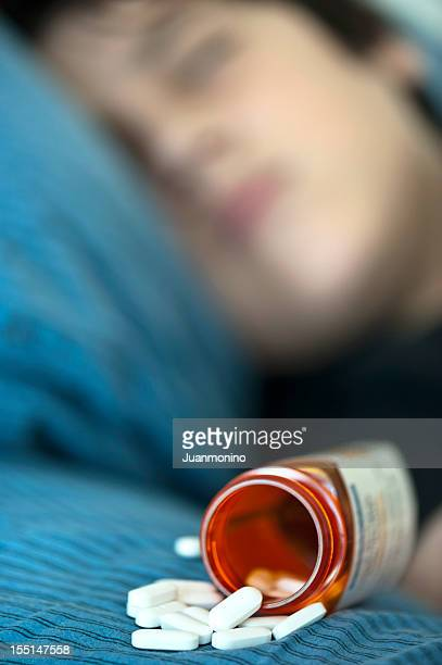 Teenager taking prescription drugs